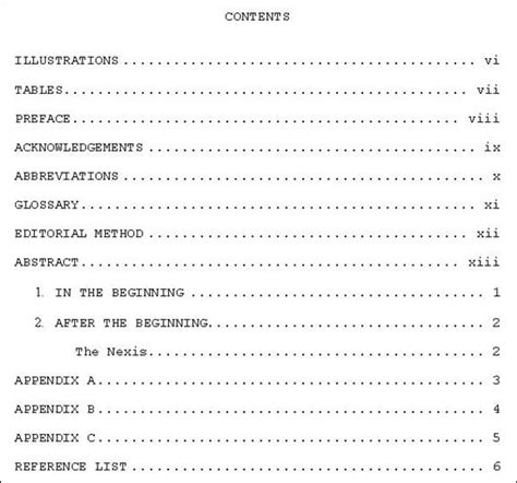 Table contents research paper apa jpg 578x540